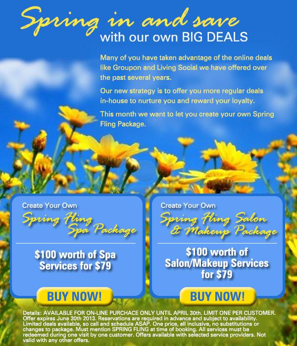 Spring Fling Deals