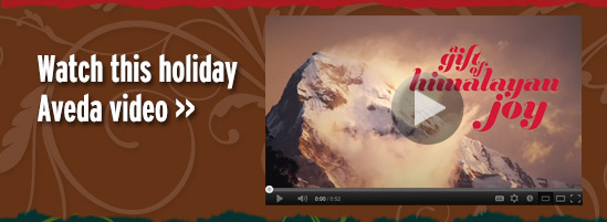 Watch this holiday Aveda video